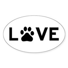 Love Paw Bumper Stickers