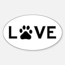 Love Paw Sticker (Oval)