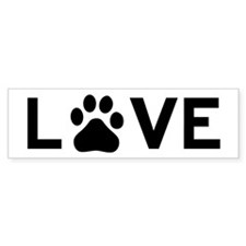 Love Dog Bumper Sticker