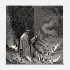 Gustave Dore - The Simonists Tile Coaster