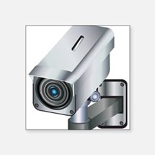 "Security Camera Square Sticker 3"" x 3"""