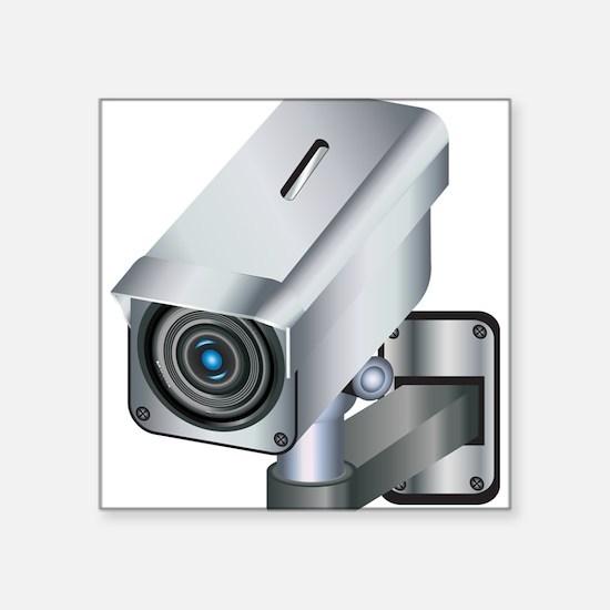 "Security Camera Square Sticker 3"" x 3"""