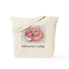 Funny Kitsune Tote Bag