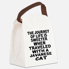 Traveled With javanese Cat Canvas Lunch Bag