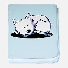 Nap Time Westie baby blanket