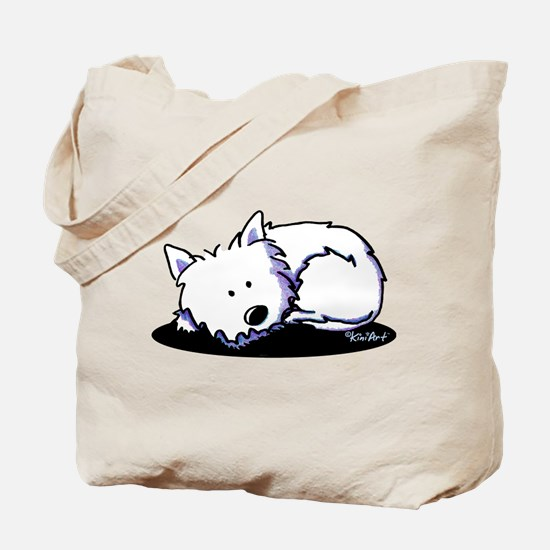 Nap Time Westie Tote Bag