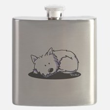 Nap Time Westie Flask