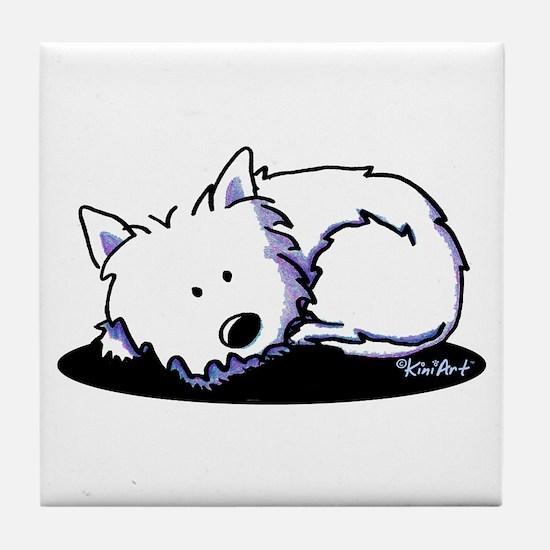 Nap Time Westie Tile Coaster