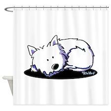 Nap Time Westie Shower Curtain