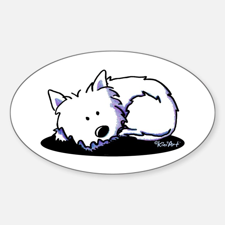Nap Time Westie Decal