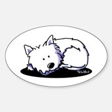 Nap Time Westie Sticker (Oval)