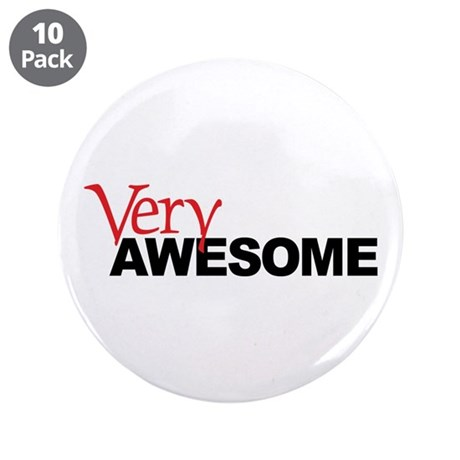"""Very Awesome 3.5"""" Button (10 pack)"""