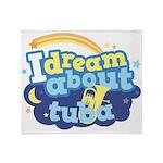 I Dream About Tuba Throw Blanket