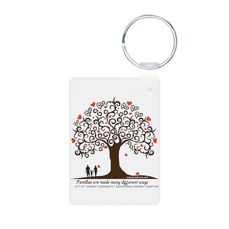INFERTILITY FAMILY TREE Aluminum Photo Keychain