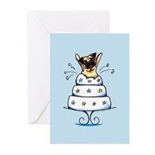 Pug Cake Trick Greeting Cards (Pk of 20)