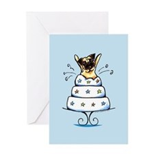 Pug Cake Trick Greeting Card