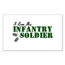 I Love My Infantry Soldier Oval Decal