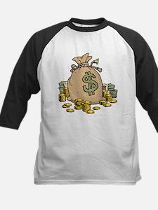Money Bags Kids Baseball Jersey