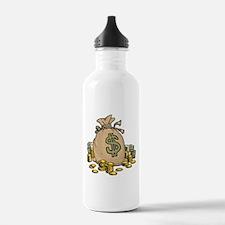 Money Bags Sports Water Bottle