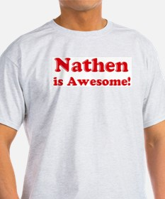 Nathen is Awesome Ash Grey T-Shirt