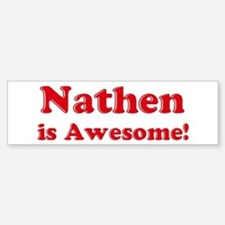 Nathen is Awesome Bumper Car Car Sticker