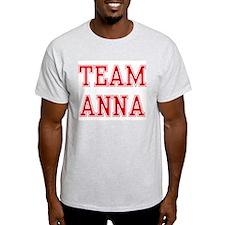 TEAM ANNA  Ash Grey T-Shirt