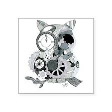 "Clockwork Owl Square Sticker 3"" x 3"""