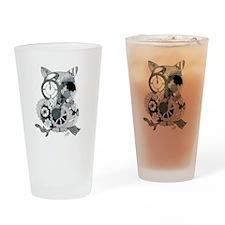 Clockwork Owl Drinking Glass