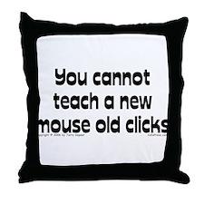 Mouse/Clicks Throw Pillow