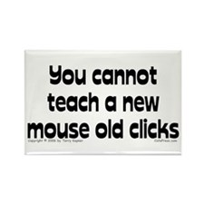 Mouse/Clicks Rectangle Magnet