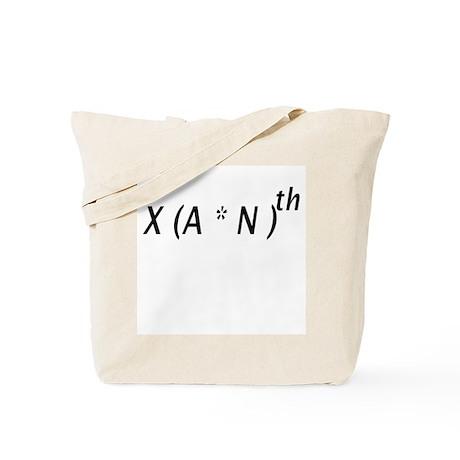 X(A*N)th Tote Bag