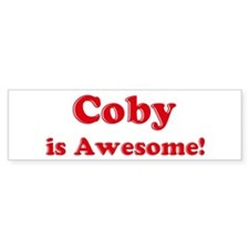 Coby is Awesome Bumper Car Sticker