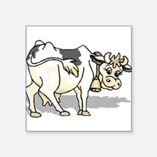 "Dairy Cow Square Sticker 3"" x 3"""