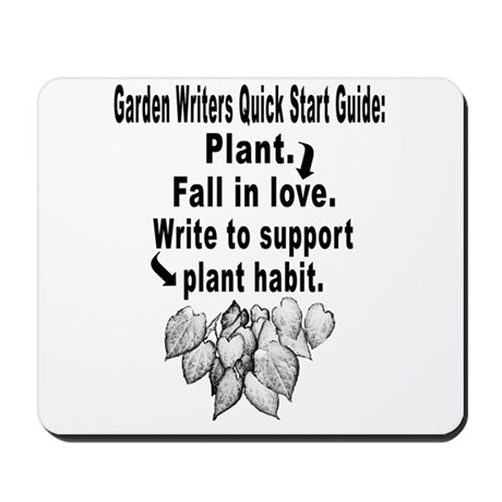 Garden Writers Quick Start Guide Mousepad