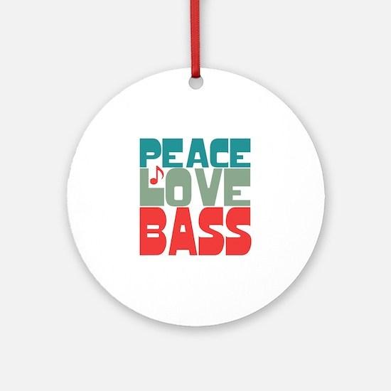 Peace Love Bass Ornament (Round)