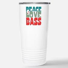Peace Love Bass Stainless Steel Travel Mug