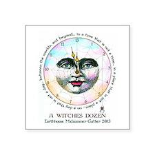 "Witches Dozen Square Sticker 3"" x 3"""