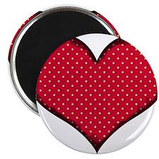 """Polka Dot Heart 2.25"""" Magnet (10 pack)"""