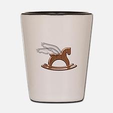 Pegasus Rocking Horse Shot Glass
