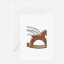Pegasus Rocking Horse Greeting Card