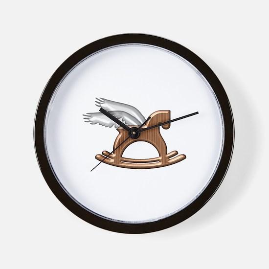Pegasus Rocking Horse Wall Clock