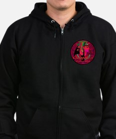 Cleopatra Reincarnated Ruby Carpet Zip Hoodie