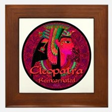Cleopatra Reincarnated Ruby Carpet Framed Tile
