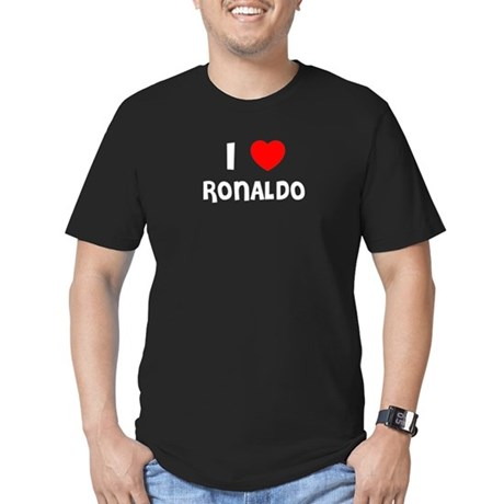 I LOVE RONALDO Black T-Shirt T-Shirt