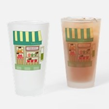 Produce Stand Drinking Glass