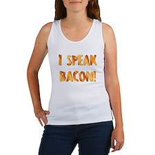 I SPEAK BACON! Women's Tank Top