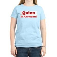 Quinn is Awesome Women's Pink T-Shirt