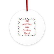 Merry Dogo Ornament (Round)