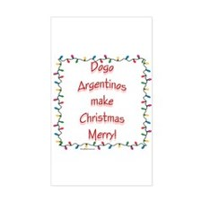 Merry Dogo Rectangle Decal