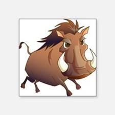 """Wild Boar Square Sticker 3"""" x 3"""""""